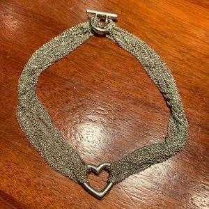 Authentic Tiffany & Co multi chain heart necklace